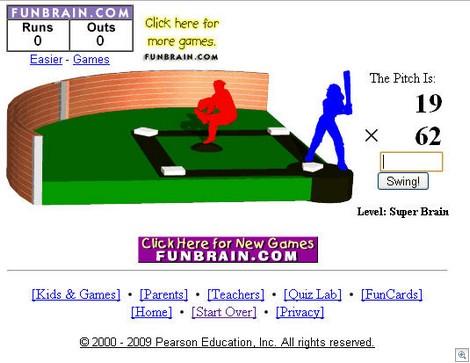 FunBrainMathBaseball