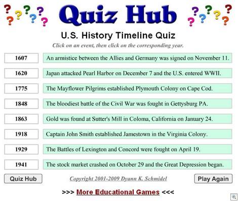 QuizHubUSHistory